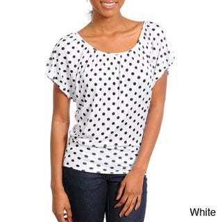 Stanzino Women's Scoop-neck Polka-dot Top