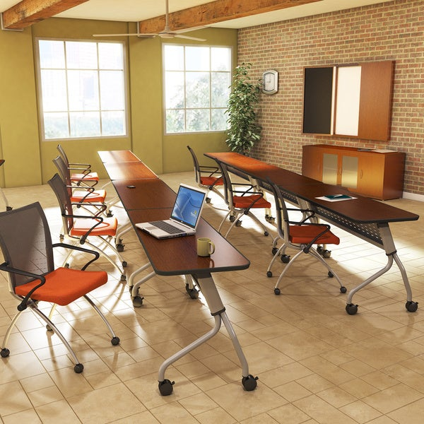Mayline Sync Rectangular Laminate Top Training Tables (72x24)