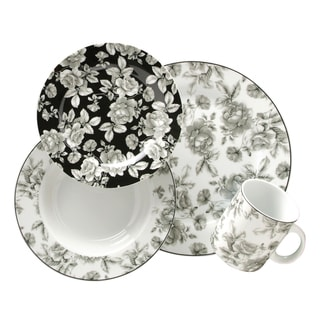 Gibson Manor Garden Porcelain 16-pc Dinnerware Set