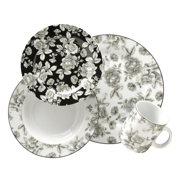 Gibson Manor Garden Porcelain 16-pc Dinnerware Set