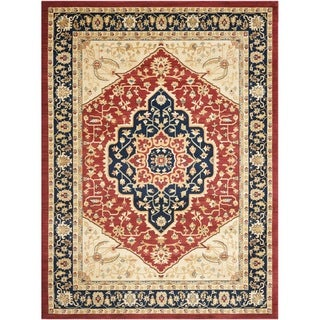 Heriz Red/ Navy Rug
