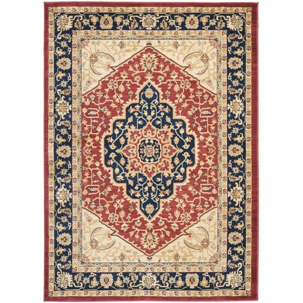Safavieh heriz red navy rug 14955829 for Red and navy rug