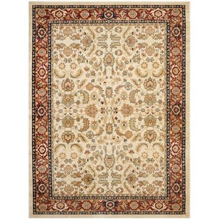 Farahan Cream/Red Oriental Rug (8' x 11')