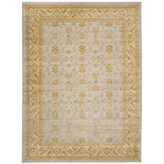 Farahan Light Gray/Gold Polypropylene Rug