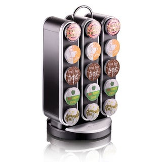 Mind Reader Vortex Black 30-count K-Cup Holder Spinning Carousel