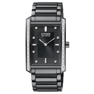 Citizen Men's Black Ion-plated Steel 'Palidoro' Eco-Drive Watch