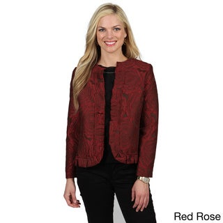 Celebrating Grace Women's 'Katherine' Ruffled Hemline Jacket