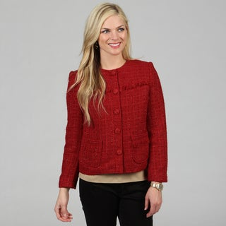 Celebrating Grace Women's Crimson 'Anne' Fringe Jacket