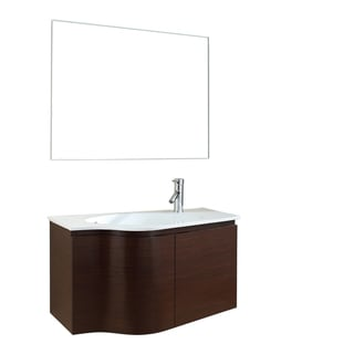 35.5-inch Single Bathroom Wood Vanity