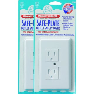 Mommy's Helper White Safe Plate Standard Outlet Covers (Pack of 25)