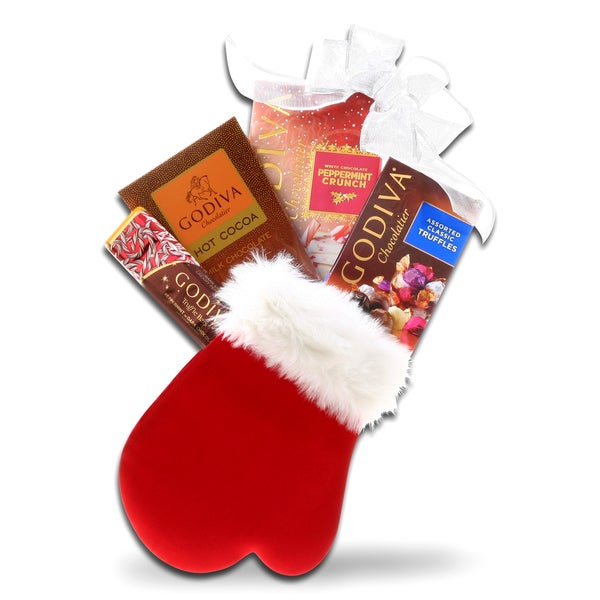 Alder Creek Godiva Holiday Mitten GIft Basket