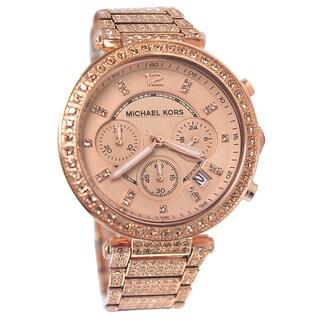 Michael Kors Women's MK5663 Chronograph Parker Stainless Steel Watch