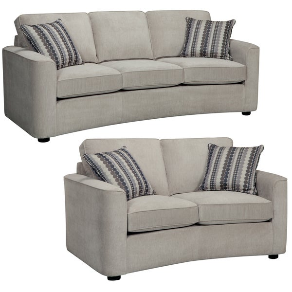 Marley Light Gray Sofa and Loveseat - 14956035 - Overstock.com Shopping - Big Discounts on ...