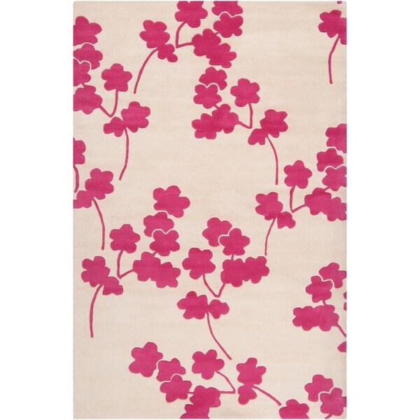 Jill Rosenwald Hand-tufted Castleberry Floral Wool Rug