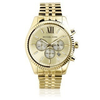 Michael Kors Men's MK8281 'Lexington' Goldtone Stainless Steel Watch
