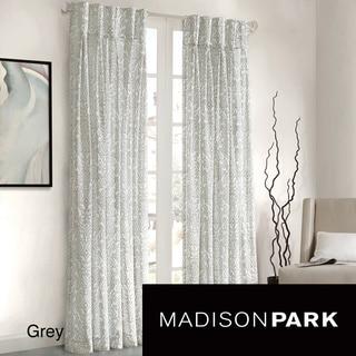 Madison Park Amari Damask Pattern Window Panel Curtain