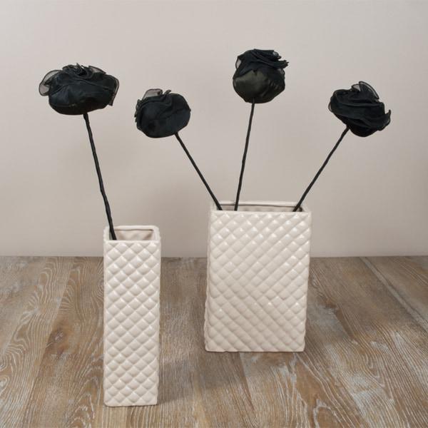Saro Black 24-inch Rose Sticks (Set of 4)