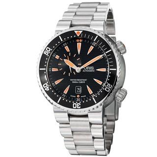 Oris Men's 'TT1 Diver' Water-Resistant Black Dial Stainless-Steel Automatic Watch