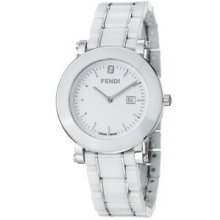 Fendi Women's 'Ceramic' White Dial White Ceramic Bracelet Quartz Watch