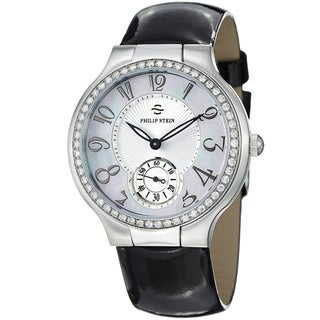 Philip Stein Women's 42D-FMOP-LB 'Novelties' Mother Of Pearl Dial Diamond Watch