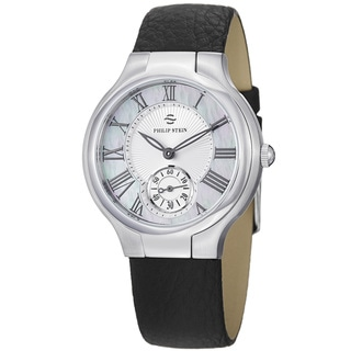 Philip Stein Women's 'Novelties' Mother Of Pearl Dial Strap Watch