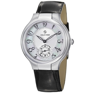 Philip Stein Women's 41-FMOP-ABS 'Novelties' Mother Of Pearl Dial Strap Watch