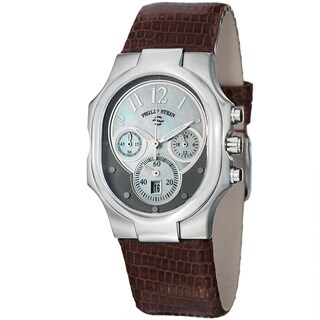 Philip Stein Women's 'Signature' Mother Of Pearl Chronograph Watch