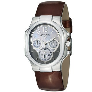 Philip Stein Women's 'Signature' Mother Of Pearl Dial Strap Watch