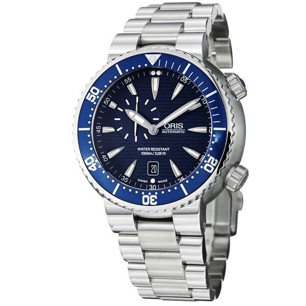 Oris Men's 'TT1 Diver' Blue Dial Stainless Steel Automatic Watch