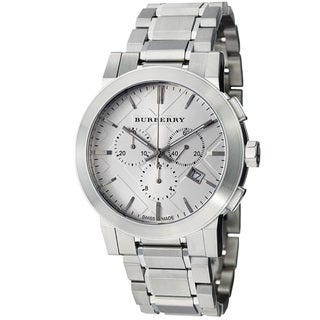 Burberry Women's 'Large Check' Silver Dial Stainless Steel Watch