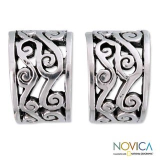 Sterling Silver 'Silver Clouds' Earrings (Mexico)