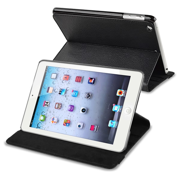 INSTEN Black Leather Case Cover for Apple iPad Mini