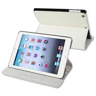 BasAcc White Leather Case for Apple iPad Mini 1/ 2 Retina Display