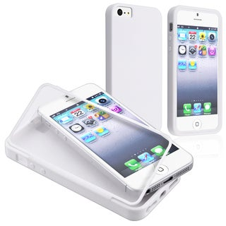 BasAcc White/ Clear Frosted Book TPU Rubber Case for Apple iPhone 5