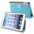 BasAcc Blue Snap-on Leather Case with Stand for Apple iPad Mini