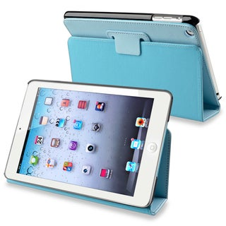 BasAcc Blue Snap-on Leather Case Stand for Apple iPad Mini 1/ 2 Retina Display