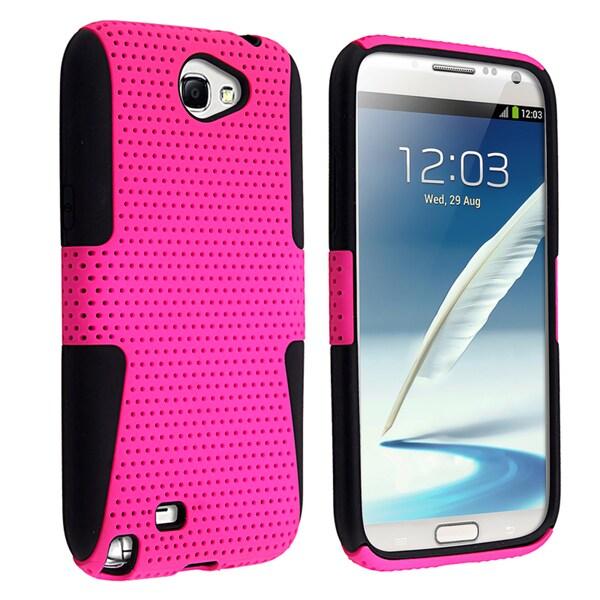 BasAcc Black/ Hot Pink Hybrid Case for Samsung Galaxy Note II N7100