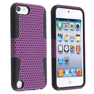 BasAcc Black/ Purple Hybrid Case for Apple iPod Touch Generation 5