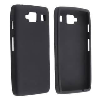 INSTEN Black Soft Silicone Phone Case Cover for Motorola Droid Razr Maxx HD XT926M