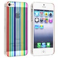 BasAcc Rainbow Strip Snap-on Case for Apple iPhone 5