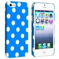BasAcc Sky Blue with White Polka Dot Snap-on Case for Apple iPhone 5