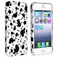 BasAcc Black/ White Splash Ink Rubber Coated Case for Apple� iPhone 5