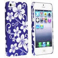 BasAcc Blue Hawaiian Flower Rubber Coated Case for Apple iPhone 5