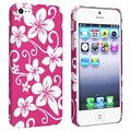 BasAcc Pink Hawaiian Flower Rubber Coated Case for Apple iPhone 5