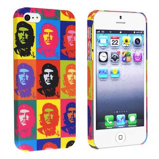 BasAcc Colorful Head Portrait Rubber Coated Case for Apple® iPhone 5