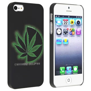 BasAcc Cannabis Leaf Snap-on Rubber Coated Case for Apple� iPhone 5