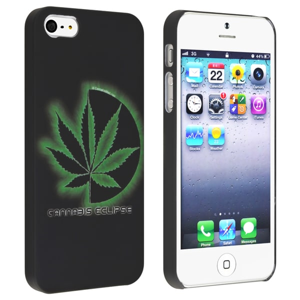 BasAcc Cannabis Leaf Snap-on Rubber Coated Case for Apple® iPhone 5