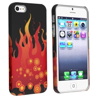 BasAcc Black/ Fire Snap-on Rubber Coated Case for Apple� iPhone 5
