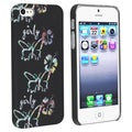 BasAcc Black/ Butterfly Rubber Coated Case for Apple iPhone 5