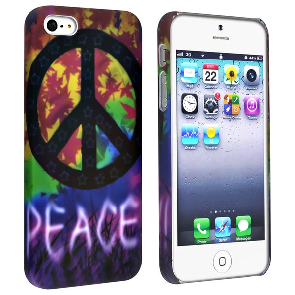 BasAcc Colorful/ Peace Sign Rubber Coated Case for Apple® iPhone 5